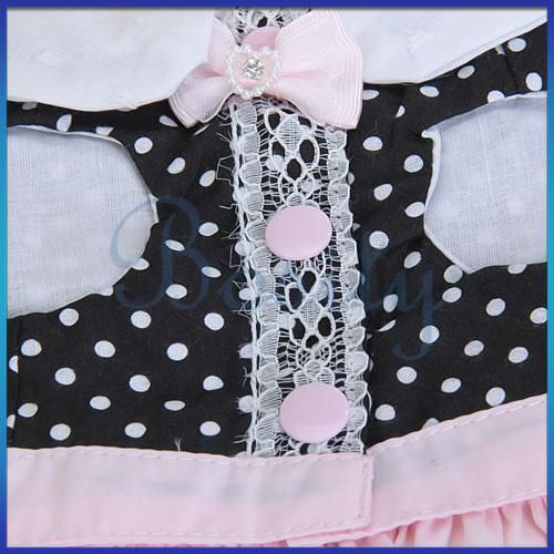 Pet Dog Dress Skirt Clothing Clothes Apparel Pink 4Size
